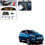 Auto Addict Car Silver Reverse Parking Sensor With LED Display For Tata Nexon