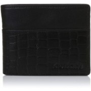 Fastrack Men Black Genuine Leather Wallet(8 Card Slots)