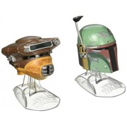 Star Wars Titanium Series Boba Fett and Princess Leia Organa Helmets