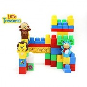 Happy Animal Mini Forest Building Block Play set That Is Compatible with Mega Blocks and Includes a Lion Cow and Monkey