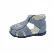 Sandale din piele naturala realizate manual pentru primii pasi Emel E1670-3 Albastru 18