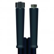 R+M de Wit 30m HD-Schlauch 2SC, DN10, schwarz, M22 Überwurf auf 3/8 Zoll Innengewinde, max
