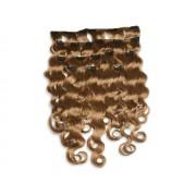 8-teiliges indisches Clip in Extensions Set, gewellt, 110 g, 60 cm - Haarverlängerung
