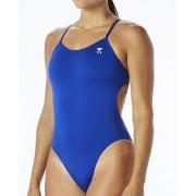 TYR Solid Cutoutfit Baddräkt Dam blå US 36 DE 40 2019 Badkläder