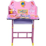 Princes Barbie Kid's Wood 3D Character Educational Table Chair (54646, Pink)