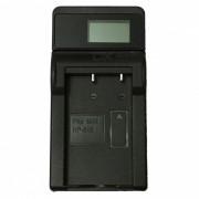 Ismartdigi NP200 LCD USB Camera Battery Charger for Minolta NP-200 Battery - Black