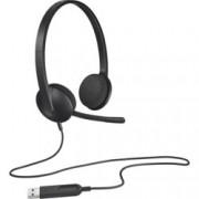 Слушалки Logitech H340, USB, черни