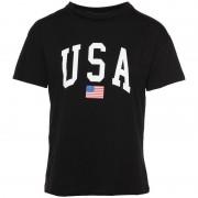 T-Shirt USA Print Zwart - T-Shirts