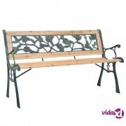 vidaXL Vrtna klupa 122 cm drvo