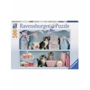 Puzzle Pisicute Si Prajiturele, 500 Piese Ravensburger