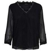 ONLY Bluză pentru femei ONLMACY L/S FOLD UP TOP WVN Black 36