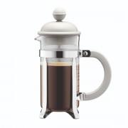 Bodum CAFFETTIERA Cafetière à piston avec couvercle en plastique, 3 tasses, 0.35 l, acier inox Blanc crème