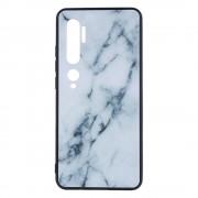 Shop4 - Xiaomi Mi Note 10 Hoesje - Harde Back Case Marmer Wit