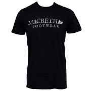 utcai póló férfi - Vintage - MACBETH - Logo Black