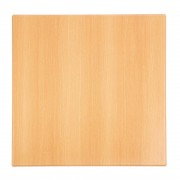 Bolero Pre-drilled Square Table Top Beech Effect 600mm