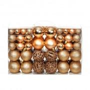 vidaXL Комплект коледни топки от 100 части, 6 см, розови/злато