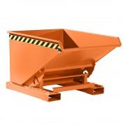Kippbehälter mit Abrollmechanismus Volumen 0,6 m³, LxBxH 1260 x 1070 x 835 mm orange RAL 2000