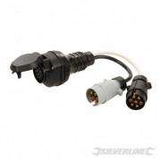 Plug to Twin Socket Towing Adaptor - 13-Pin to 7-Pin N & S-Type 584466 5024763195525 Silverline