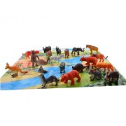 Babytintin™ ZOO Wild Animals Figures Set For Kids/Young Ones Pack Of 20 Animals (Big Size) (Multi Colour, Animals May Vary Pack To Pack)
