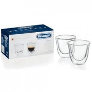 Delonghi Ecam 23.210 Compact Coffee Machine Free Gift & Delivery - 2 Double Walled Espresso Glasses