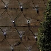 Ghirlanda solara tip plasa 105 led-uri - lumina alba stralucitoare
