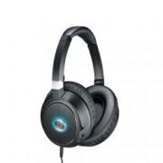 Слушалки Audio-Technica ATH-ANC70, микрофон, самостоятелно захранване с ААА батерия, бързи бутони, сваляем 1.2м кабел, сгъваеми, черни