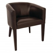 Bolero PU Leather Tub Armchair Dark Brown (Single)