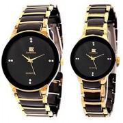 TRUE CHOICE NEW iik fancy couple watches Golden black g