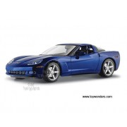 Maisto Chevrolet Corvette Coupe C6 (2005, 1/18 Scale Diecast Model Car, Metallic Blue) 31117 Diecast Motorcycles And Cars