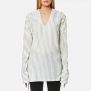 House of Sunny Women's Stripe V Tunic Top - Stripe - UK 12 - White