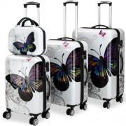 COMFORT ABS DU4 cestovní kufry motýl
