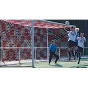 Plasa poarta fotbal 7,5 x 2,5 x 2 x 2 m, fir 3,5 mm, 2 culori, polipropilena