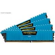 Corsair Vengeance Lpx 16Gb (4x 4GB) DDR4-2800 (pc4-22400) 288pin kit Desktop Memory with Blue low-profile heatsink