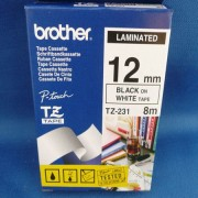 Brother Black on White Colour Tape 12mm