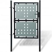 vidaXL Čierna jednokrídlová ozdobná bránka 100 x 200 cm