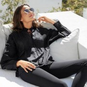 TWINSET black boho-blouse, 42 - zwart