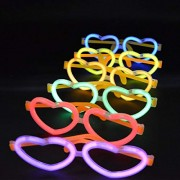 Chocozone Light up Toys Glow Goggles Mixed Colors Party Favors Supplies for Night Parties Pubs Discs (Pack of 20)