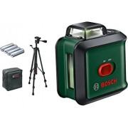 Bosch Set Universal Level 360 Nivela laser cu linii, 120 + 4 x baterii de 1.5 V LR6 (AA) + Stativ din aluminiu de 1.5m + Geanta profesionala