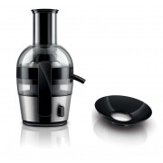 Storcator de fructe si legume Philips Viva Collection HR1864/20, 700 W, 2 l, Tub XL, Inox/Negru