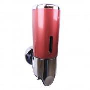 Zeepdispenser rood   chroom 400 ml