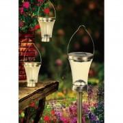 3 db napelemes LED Alfie világítás hideg fehér 40 cm