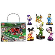 Mickey and The Roadster Racers Disney Figure Set Mickey and The Roadster Racers Race Character Action Figures + Racers Pop up and Play World Fun Set Race Play Pack