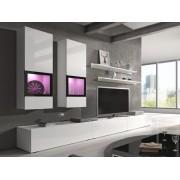 Smartshop BRODIE obývací stěna, bílá/bílý lesk