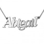 Personalized Men's Jewelry Angel Style Silver Name Necklace 101-01-073-02