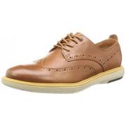 Clarks Men's Flexton Wing Beige Formal Shoes - 8 UK/India (42 EU)