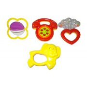 New Born Baby Boy / Girl Infant Toddler Babies Toys Rattle Plush Rings Sets Cartoon Shape Sweet Cuddle Colorful Set Pleasant to Baby Eyes Non Toxic Durable Quality Baby's First Gift (6+ Months) Type 1