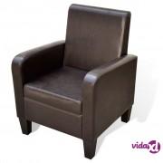 vidaXL Fotelja od Umjetne Kože Smeđa
