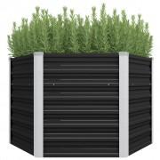 vidaXL Vaso/floreira de jardim aço galvanizado 129x129x77 cm antracite