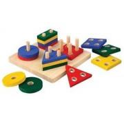 Plan Toys houten leerspel Geometrick sorting Board