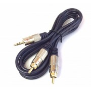 CABLE JACK 3.5mm MACHO STEREO A 2 RCA MACHO 1.5m